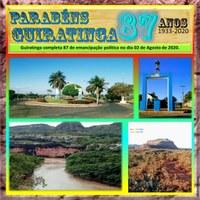 Parabéns Guiratinga-MT pelos seus 87 anos.